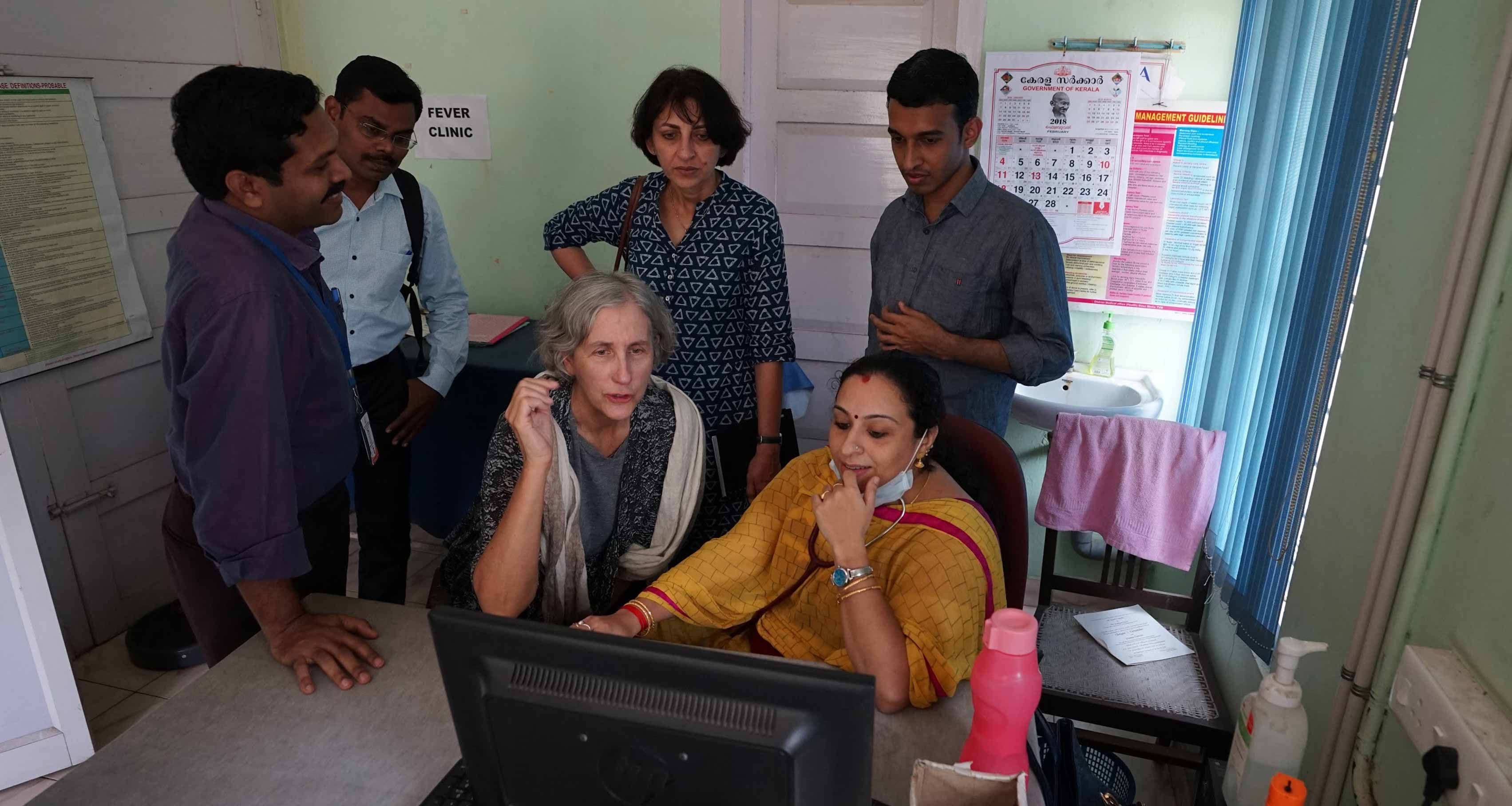 A member of the Simple team interviews a physician in India